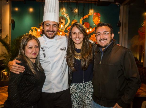 <div>Lizzeth Cardenas, Mario Valles, Alexandra Rueda y Camilo Colunge.</div>