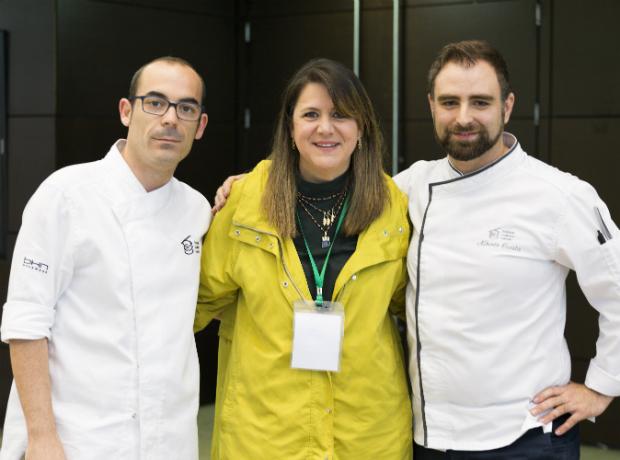 Jorge Bretón, Paula Rodríguez y Alberto Cuesta.