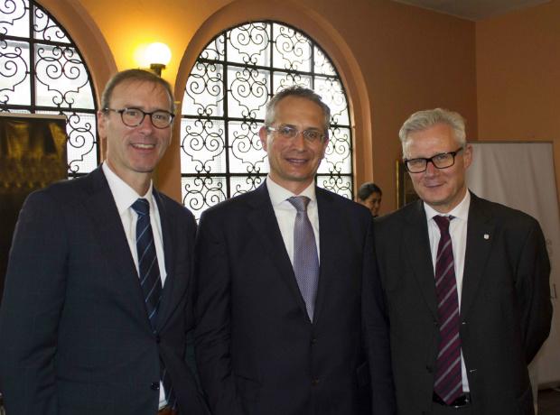 Clemens Hach, Patricj Egloff y Christoph Harnisch.