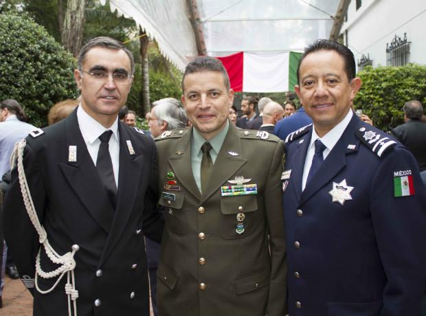 Coronel Giuseppe, Cavallari coronel Germn Monsalve y Adalberto Morales.