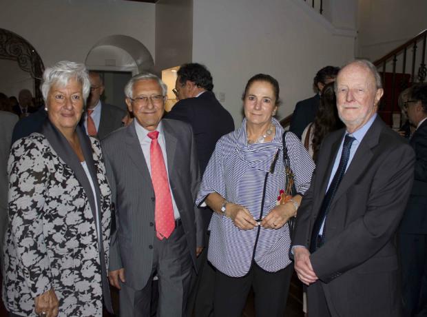Elvira Pratesi de Chica, Silvio Chica, Gloria Dolmen y Ezio Aymar Cattaneo.
