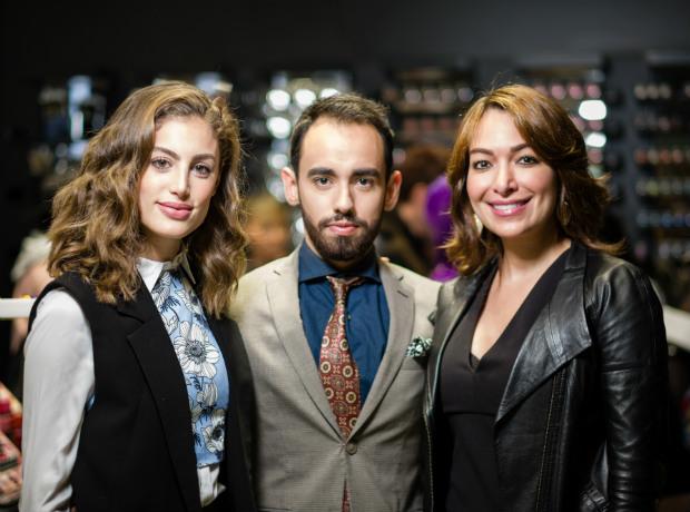 Helena Fadul, Nelson Rueda y Loren Hatch.