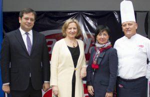 Juan Felipe Salcedo, Caterina Bertolini, Anna Margaritelli y el chef de Barilla.
