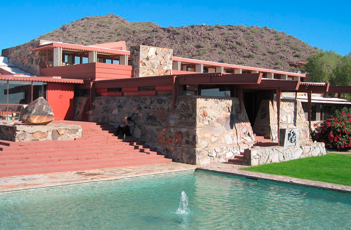 Taliesin West, Wisconsin, 1938.