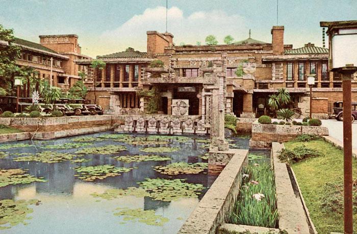 Hotel Imperial en Tokio, 1922 y demolido en los años 60.