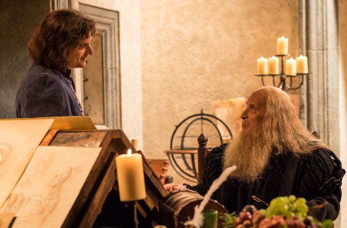 Rafael visitó en muchas ocasiones a Leonardo en su taller en Florencia.