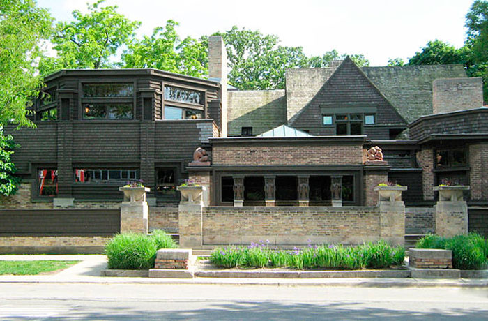 <div>Frank Lloyd Wright Studio, Chicago, 1898.</div>