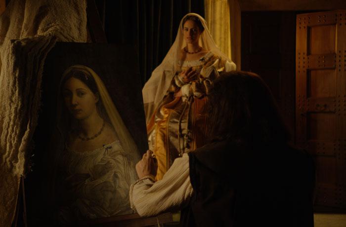 Donna Velata, en italiano, es uno de los retratos más famosos del pintor.