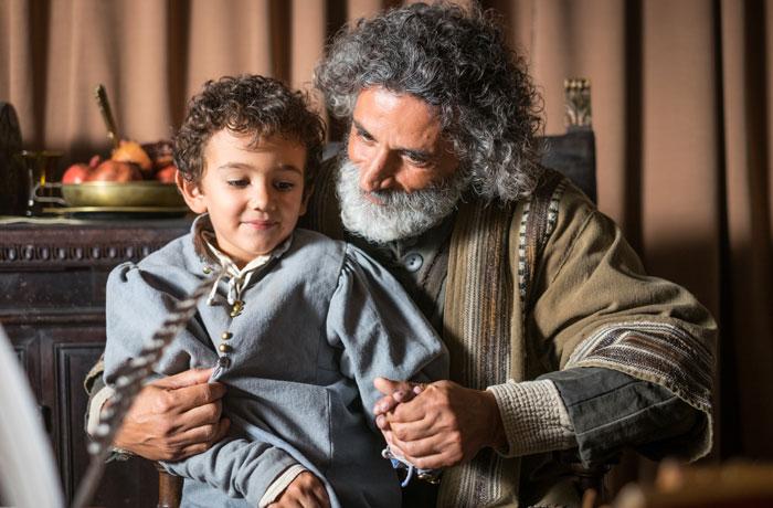 Rafael y su padre Giovanni Santi en Urbino.