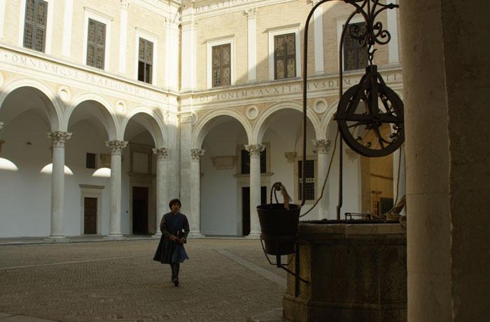 Rafael Sanzio en el Palazzo Ducale en Urbino.