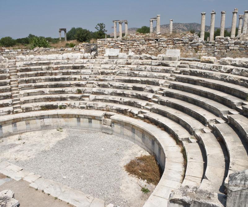 Aphrodisias, Turquía. Ruinas de una antigua ciudad griega.