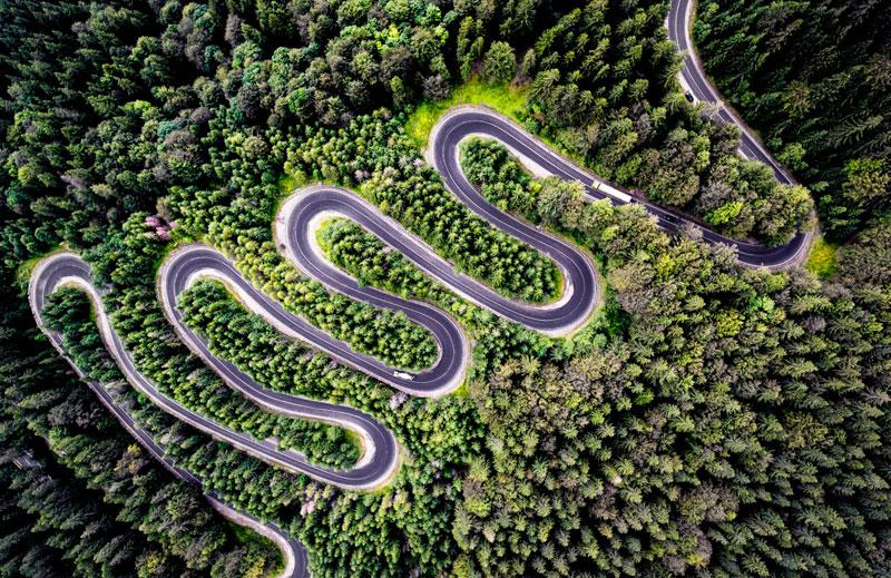 Segundo lugar en la categoría Naturaleza. Infinito camino a Transilvania por @CalinStan.