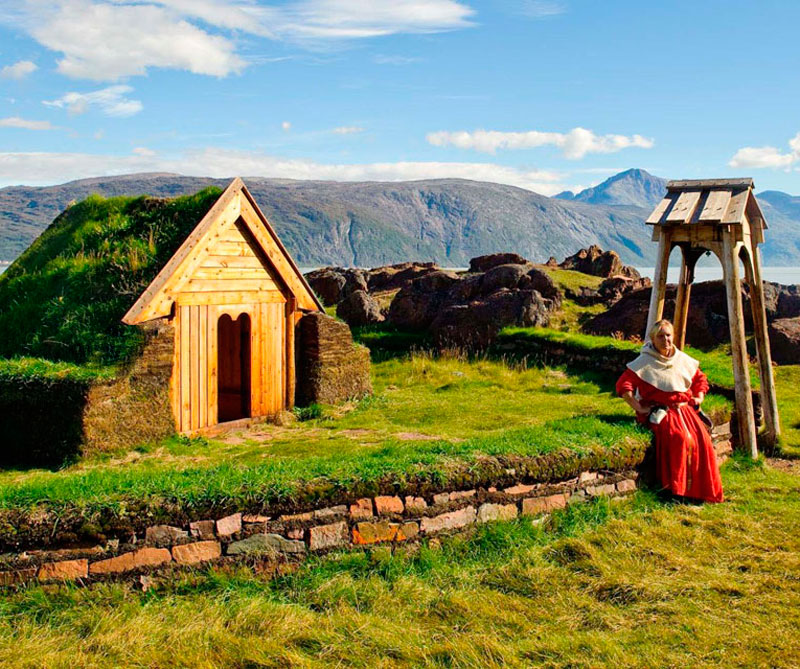 Cultivo nórdico en Kujata, Groenlandia.