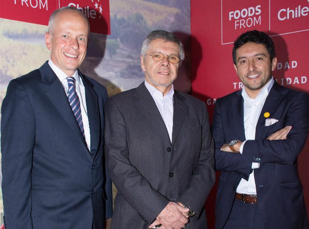 Rodolfo Schierloh, Ricardo Navarrete y Hugo Corales.