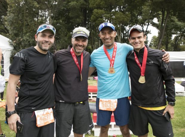 <div>Camilo Zapata, Rodrigo Elo, Juan Carlos Alonso y Ricardo Uribe .</div>