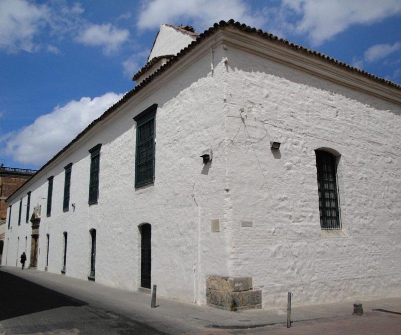 Fachada del Museo Colonial, en el barrio la Candelaria.