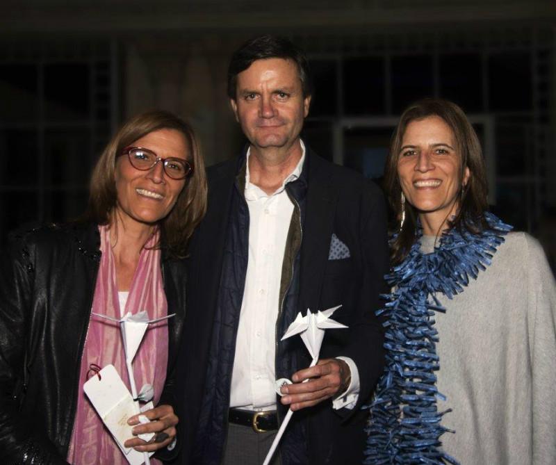Paula Ospina, Ricardo Pizarro y Juliana Ospina.
