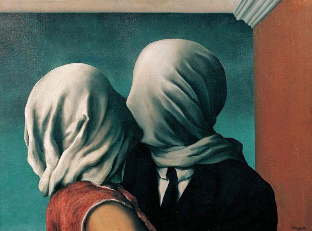 Los amantes, René Magritte