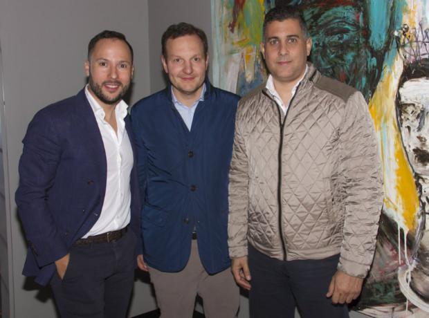 Gregory Schaller, Hernando Quintero y Jorge Vidal.