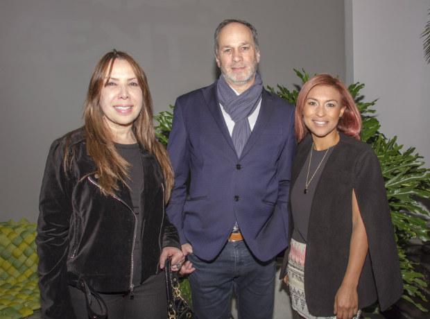 María Luisa Marino, Roberto Landucci y Erika Heredia.