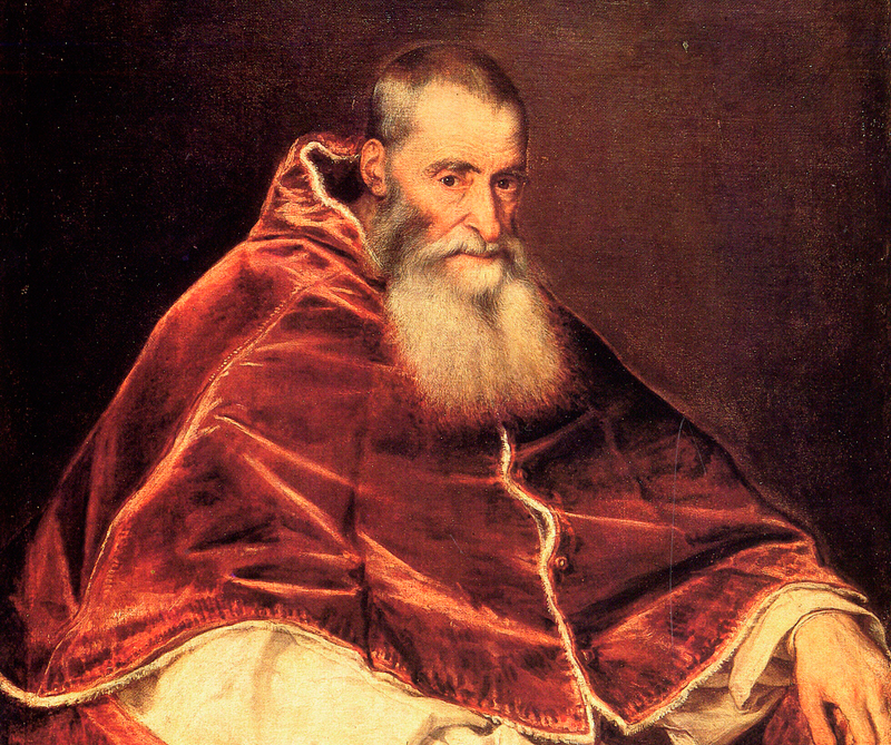 Retrato de Pablo III, Galería Nacional de Capodimoti, Nápoles, 1543, Archivo Diners, CC BY 0.0.