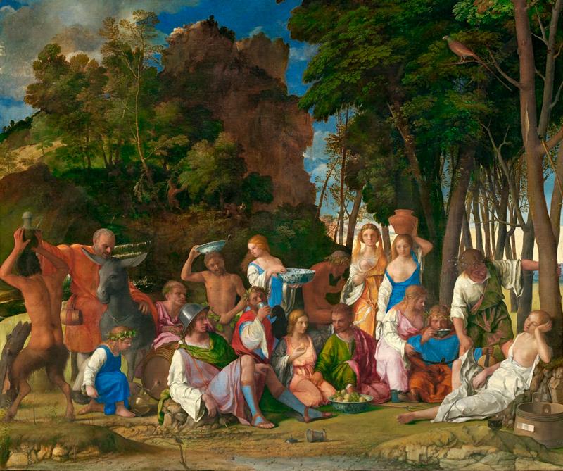 Festín de los dioses, Galería Nacional de arte, Washington, 1514, Archivo Diners, CC BY 0.0.