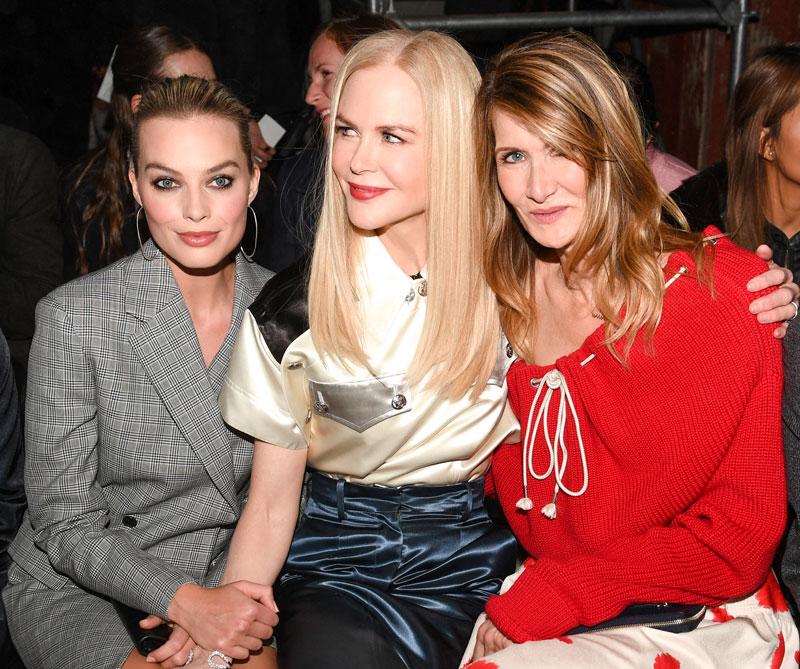 <div>Margot Robbie, Nicole Kidman e Isabelle Huppert.</div>