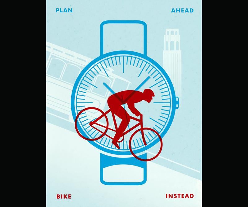 """Plan ahead, bike instead.""(Heritage Auctions)"
