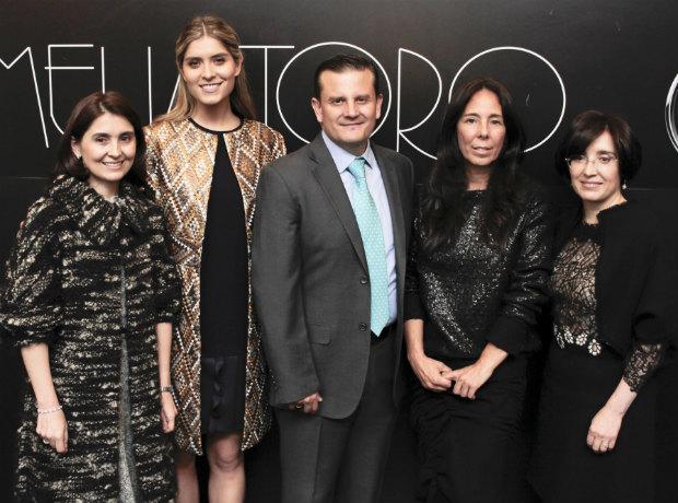 Cristina Otero, Laura Tobón, Héctor Corredor, Amelia Toro y Helena Otero.