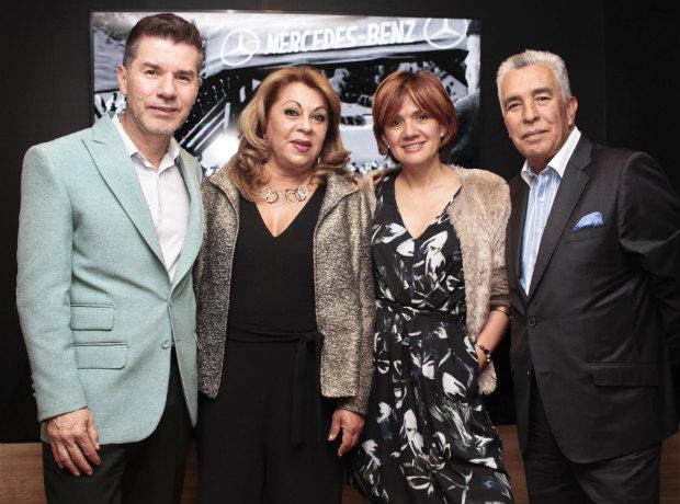 Henry Olmos, Ana María Rubio, Leticia Gonzáles y Luis Caballero.