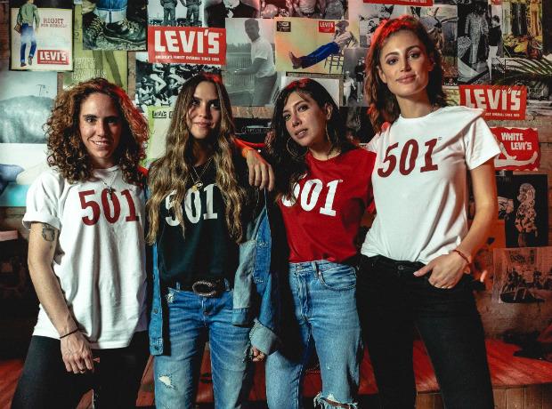 Amalia Andrade, Daniela Salcedo, Ita María y Helena Fadul.