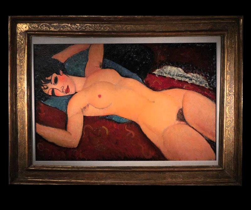 <div>Nu couché: El Desnudo rojo, como se le conoce en español a esta obra del italiano Amadeo Modigliani se vendió en 2015 al empresario chino Liu Yuqian por más de 170 millones de dólares.</div>