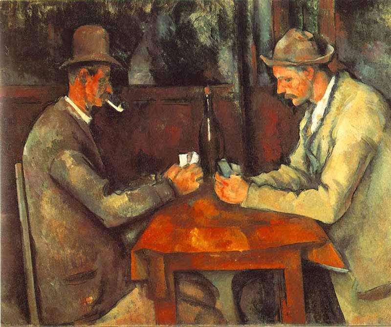<div>Juego de cartas: La casa de subastas Arnold vendió esta obra de Paul Cézanne por 259 millones de dólares. Sin embargo, su comprador aún no ha pagado el monto total, por lo que el cuadro sigue en exhibición en la casa de subastas en Frankfurt.</div>