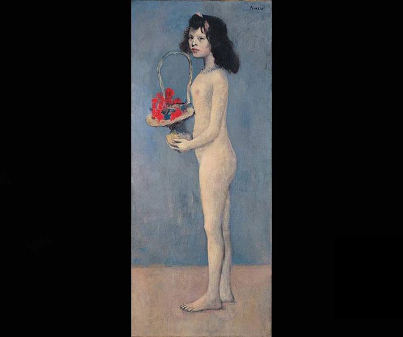 Young Girl with a Flower Basket: Esta pintura de 1905 se vendió en mayo de 2018 por 115 millones de dólares a la casa de subastas Christie's (Nueva York). Días después la obra se la llevó la colección privada de arte David Rockefeller por más de 648 millones de dólares.