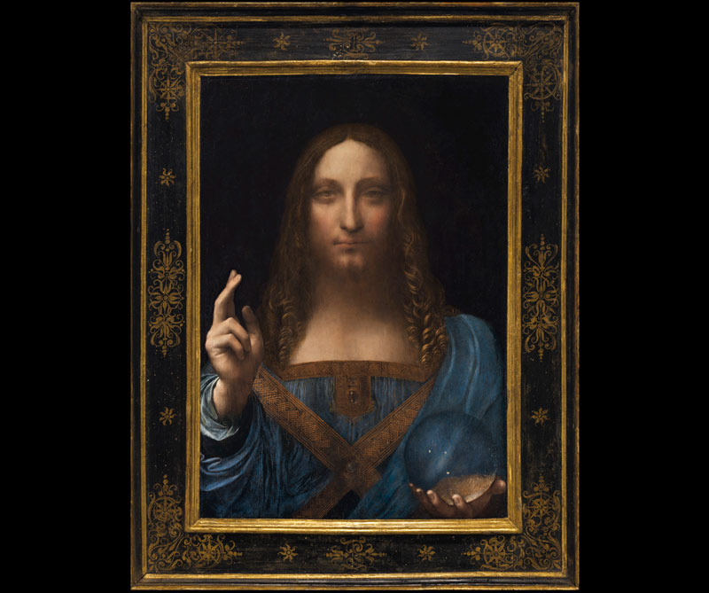 Salvator Mundi: Leonardo da Vinci hizo este óleo en el año 1500. Se considera una de las obras mejor conservadas del italiano. Aunque se debate si la obra es una copia o es la original, la casa de subastas Christie's la vendió a un coleccionista estadounidense por más de 450 millones de dólares.