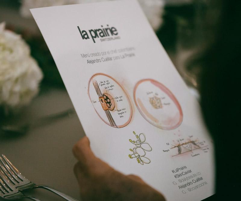 El menú fue diseñado por el chef colombiano Alejandro Cuéllar.