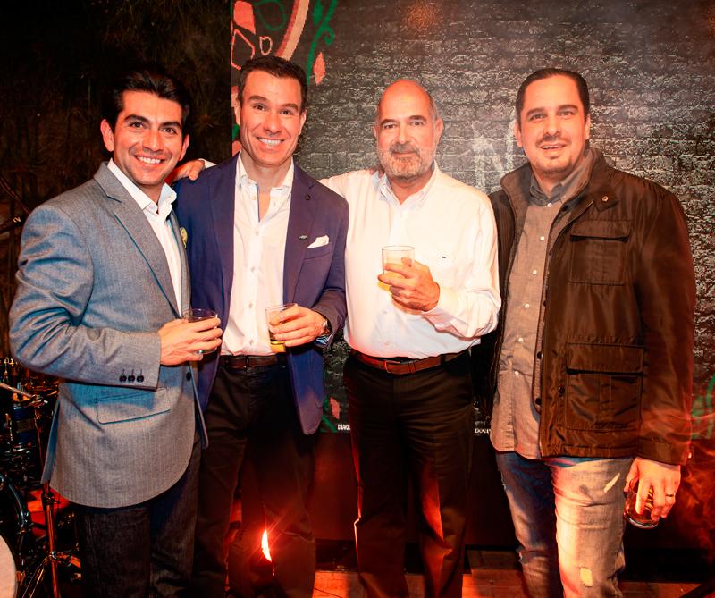 Juan Pablo Acosta, Álvaro Cárdenas, Enrique de Colsa y Victor Castisani