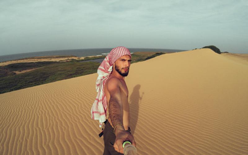 Las dunas de Taraa, parecen extraídas de un paisaje africano.
