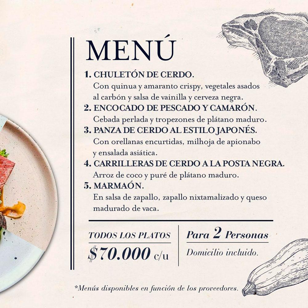Menú El Chato