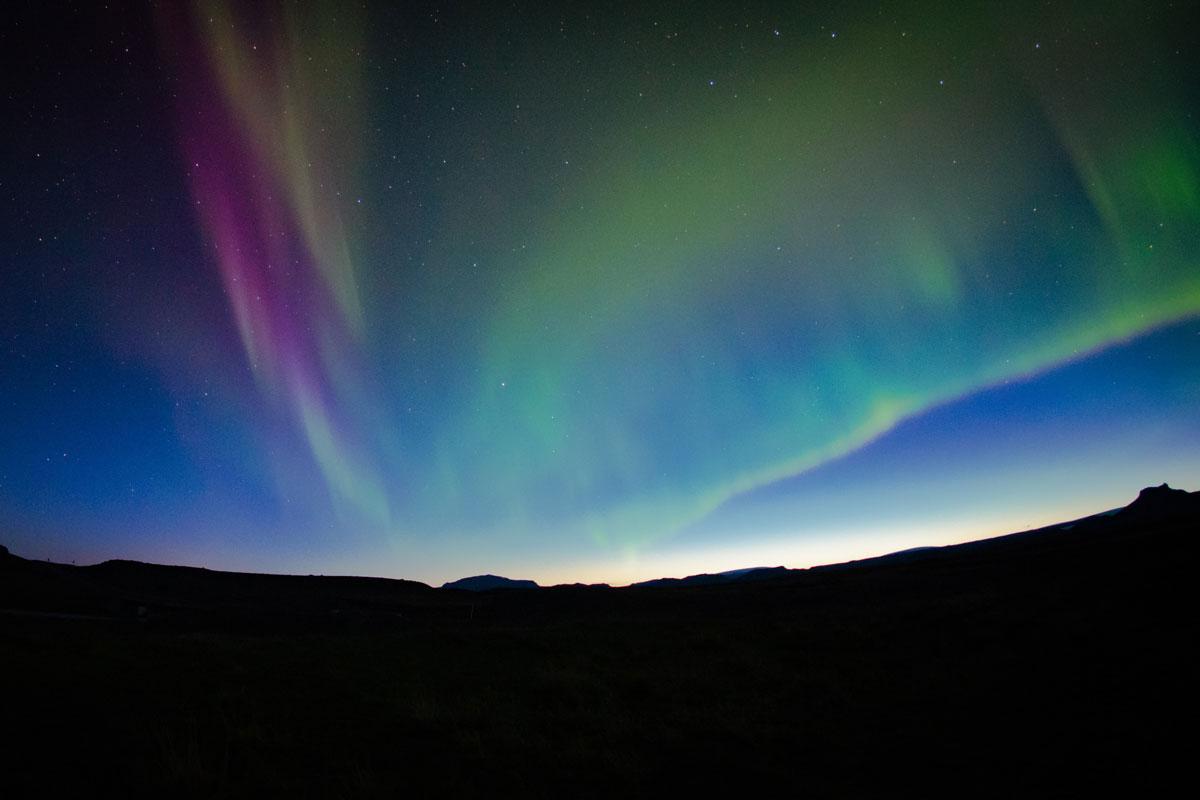 aurora de colores