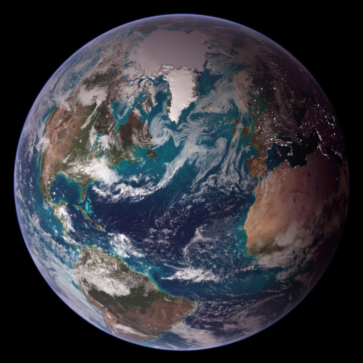 Tierra, mármoles azules espacio