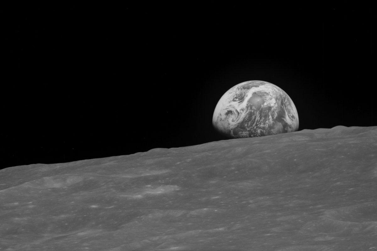 Tierra desde la Luna espacio