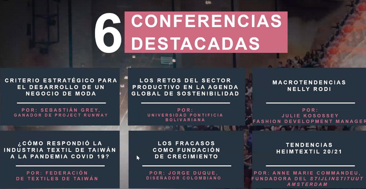 Colombia moda 2020, conferencias
